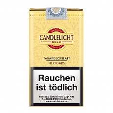 Candlelight 100% Wrapper Cigars Gold (Vanilla) 10 Stück