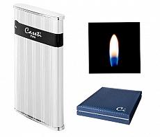 Caseti Feuerzeug Montpellier Jetflamme schwarz Chrom