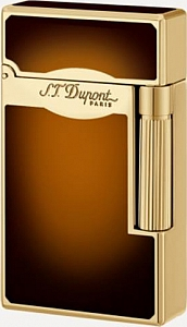 DUPONT Le Grand mit Kombiflamme Chinalack braun 23012