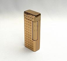 Hadson York gold diacut Feuerzeug mit Steinzündung 2,5 x 6,5 cm