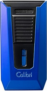 COLIBRI Cigarren Feuerzeug Slide 2er Jet blau/schwarz Rundcutter 7mm