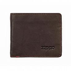 Geldbörse Zippo Leder Mocha 5 Karten 11x10x1,2cm