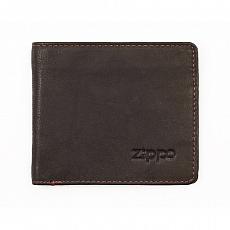 Geldbörse Zippo Leder Mocha 2 Karten 11x10x1,5cm
