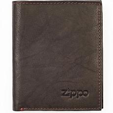 Geldbörse Zippo Leder Mocha 4 Karten 10x12,3x1,5cm