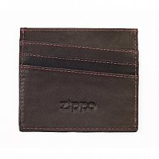 Kreditkartenetui Zippo Leder Mocha 5 Kredit-Karten 10x8,7x0,5cm