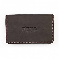 Etui Zippo Leder Mocha für Visitenkarten 10x6x1,8cm
