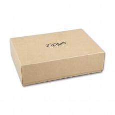Geldbörse Zippo Leder Mocha mit Kette10 Karten 15,5x8x1,5cm