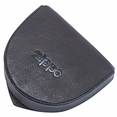 Geldbörse Zippo Leder Mocha für Münzen zum Aufklappen 8,5x7x2,2cm