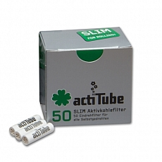 Filter Aktivkohle Acti Tube Slim 6,9 mm 50 Stück