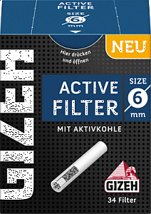 Gizeh Black Active Filter 6mm 34 Stück