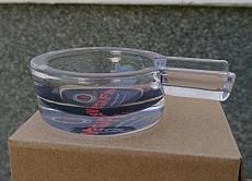 Zigarrenascher Glas VegaFina rund mit einer Ablage