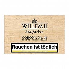 50 Zigarren Willem II Fehlfarben Corona No. 40 Sumatra
